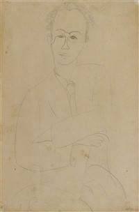 portrait de michel kikoine by amedeo modigliani
