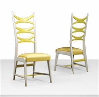 high-back chairs (pair) by gio ponti