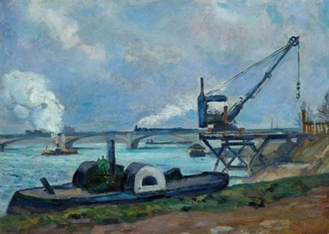 la seine à paris by armand guillaumin
