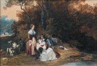 libertinage au bord de la rivière by camille joseph etienne roqueplan