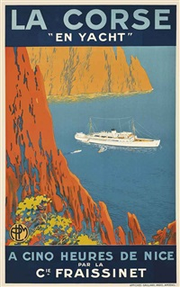 la corse en yacht by sandy (georges taboureau) hook