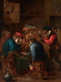 les singes fumeurs by abraham teniers