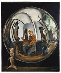 autorretrato en bola de cristal by roberto montenegro