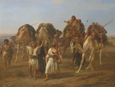the arrival of the caravan by william j webbe webb
