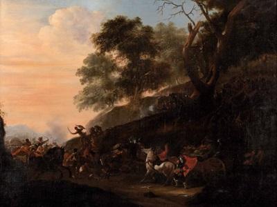 reitergefecht aus den türkenkriegen by johann anton eismann