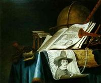 vanité avec le portrait du peintre by vincent laurensz van der vinne the elder