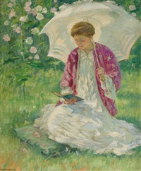 au soleil (girl in sunlight) by rupert bunny