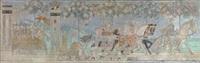 brudefølget på veien gjennom frankrike fra kristinafrisen by gerhard peter franz vilhelm munthe