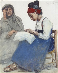 the lacemakers by erich wolfsfeld