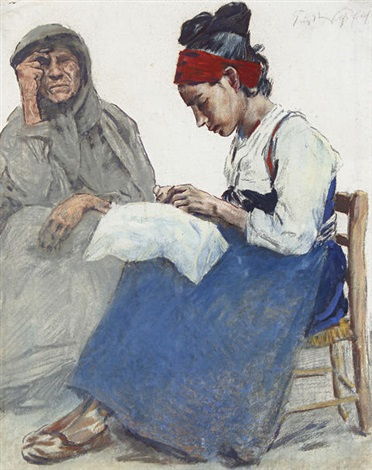 the lacemakers by erich wolsfeld