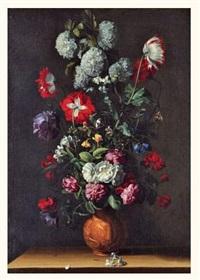 bouquet de fleurs sur un entablement by jean-michel picart