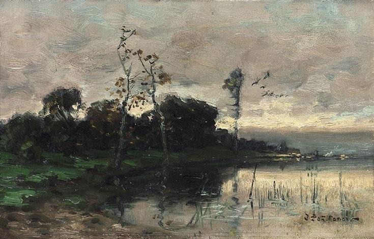 létang sous un ciel de pluie by ivan pavlovich pokhitonov