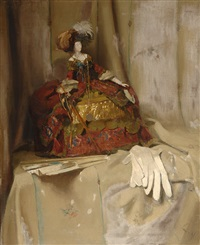 still life with a doll by lizzy ansingh