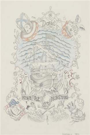 untitled here with monsters by wim delvoye
