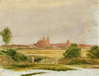 roskilde cathedral seen from the northwest by jörgen roed