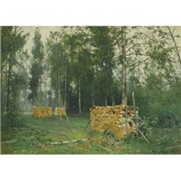 autumn morning by andrei nikolaevich shilder