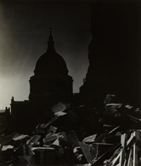 st. paul's cathedral in the moonlight by bill brandt