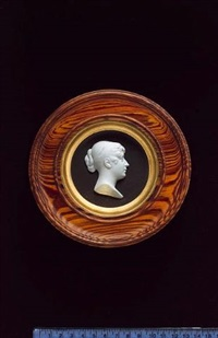 princess charlotte augusta of wales (1796-1817), head and shoulders, profile to the right, her hair in an apollo knot by john henning the elder