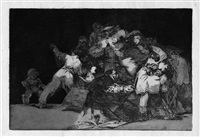 unas de gato y habito de beato (disparate general)(dai los proverbios) by francisco de goya