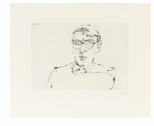 portrait of aldo crommelynck 6 others 7 works by avigdor arikha