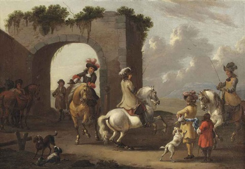 a riding school by simon johannes van douw