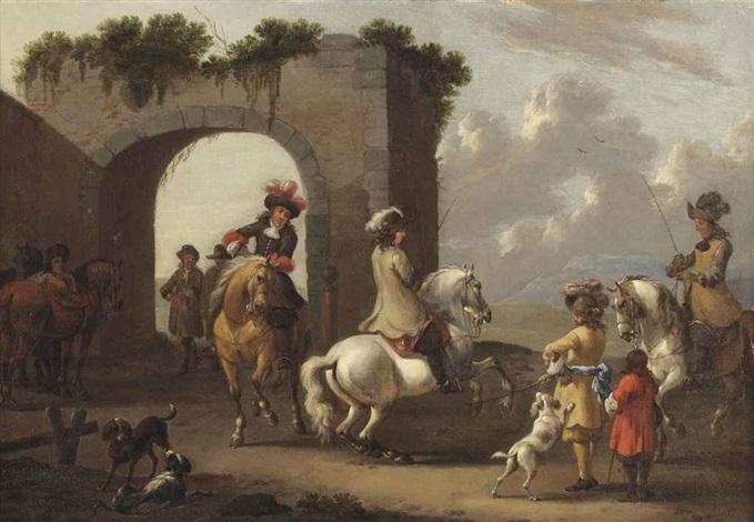 a riding school by simon johannes van douw
