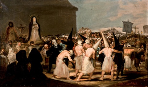 procesión de flagelantes after goya by eugenio lucas villamil