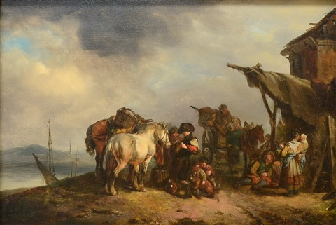way side scene by philips wouwerman
