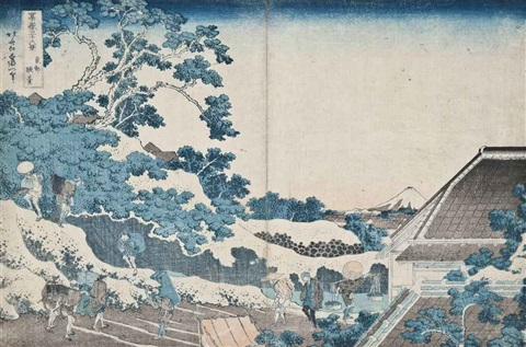 toto sundai surugadai in edo from the series fugaku sanjurokkei the thirty six views of mount fuji oban yoko e by katsushika hokusai