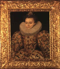 portrait of a lady (lady arabella stuart, daughter of charles, 5th earl?) by george gower