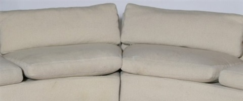 milo baughman section upholstered sofa, 20th c.