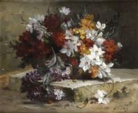 bouquet de fleurs dans un panier by morin d' anty