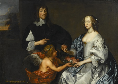 a portrait of lord and lady bayning by sir anthony van dyck