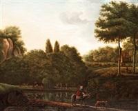 a river landscape by william tomkins