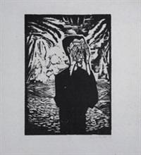 mann in der ebene by erich heckel