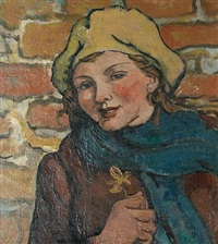 portrait of a country girl by steven spurrier