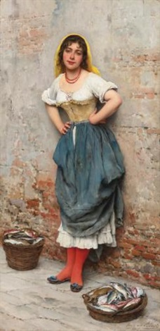 a young fishwife by eugen von blaas