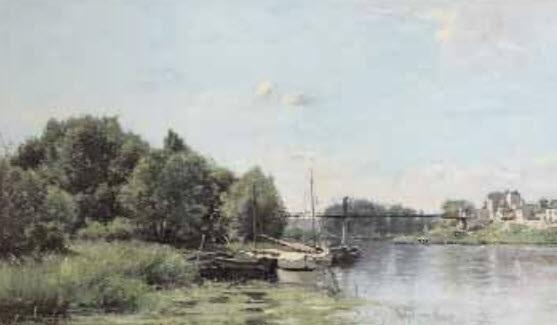 paysage à la mare by adrien jacques sauzay