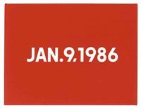 january 9, 1986 by on kawara