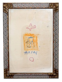 untitled abstract by jean-michel basquiat