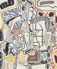playing card girl by patrick heron