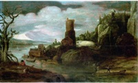 paysage by philips de momper the younger