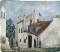 la maison de mimi pinson à montmartre by maurice utrillo
