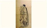 l'homme de la tragédie pour la fresque du palais de chaillot (étude) by louis léon eugène billotey