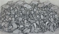 traditional market scene by i ketut gelgel