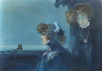 femmes au bord de mer by ange jacques supparo