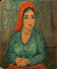 portrait of woman by moshe castel