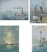 steamboat ocean (+ 3 others, irrglr; 4 works) by franz holzlhuber