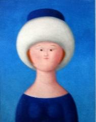 figura femminile con colbacco by antonio bueno