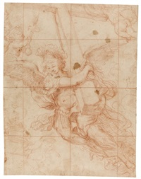 an angel carrying the instrument of the passion (after pietro da cortona) by pietro da cortona